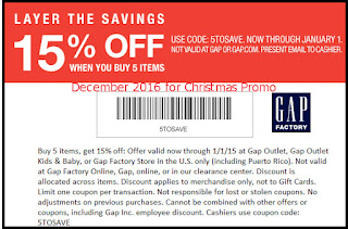 free Gap coupons for december 2016
