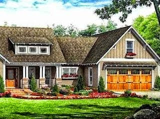 Bungalow style home with garage.