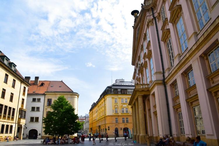 The Pink Palace, aka Primitial Palace in Bratislava's Old Town in Bratislava | Ms. Toody Goo Shoes #bratislava #slovakia #danuberivercruise
