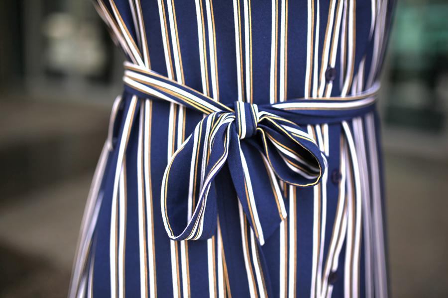 dress bow stripes mbf_dubai my berlin fashion