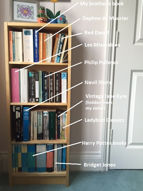 A look at the books on my fiction bookshelf