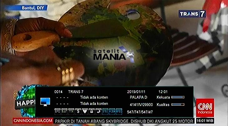 Inilah Frekuensi TransTV, Trans7, ANTV di satelit Palapa