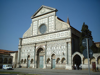 The facade of the church of Santa Maria Novella in Florence was designed by Alberti