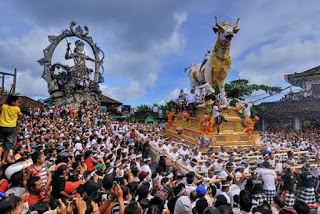 All About Bali Ngaben is the burning of bodies