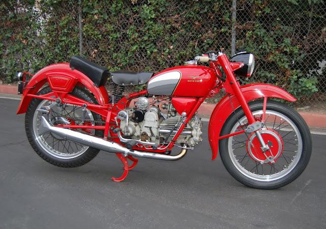 Moto Guzzi Falcone 1950s Italian classic motorbike