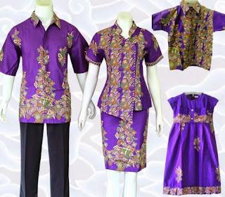 Model baju batik keluarga ayah ibu anak