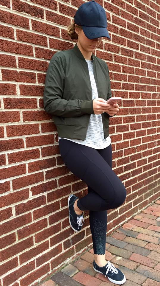 lululemon non-stop-bomber-jacket olive tight-stuff-tight