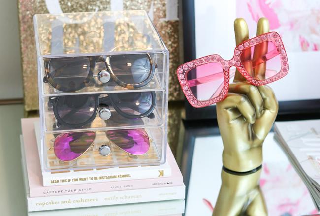 amazon clear sunglasses organizer