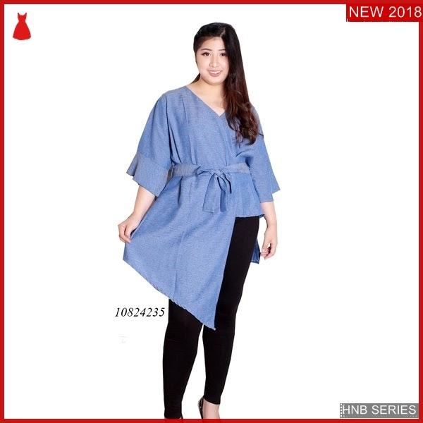 HNB007 Model Terusan Jeans Skater Dress Ukuran Ukuran BMG Shop