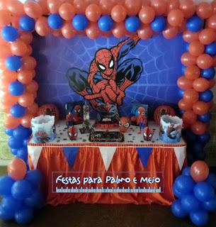 Decoração Festa Homem-Aranha