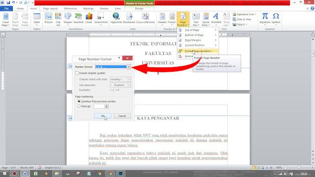 Cara Membuat Format Nomor Halaman Yang Berbeda di Word 2013 Dalam Satu Dokumen