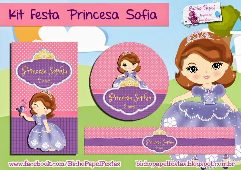 Kit Festa Princesa Sofia