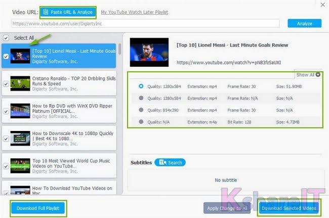 YouTube Batch Downloader 1 2 - KshareIT - Software Download