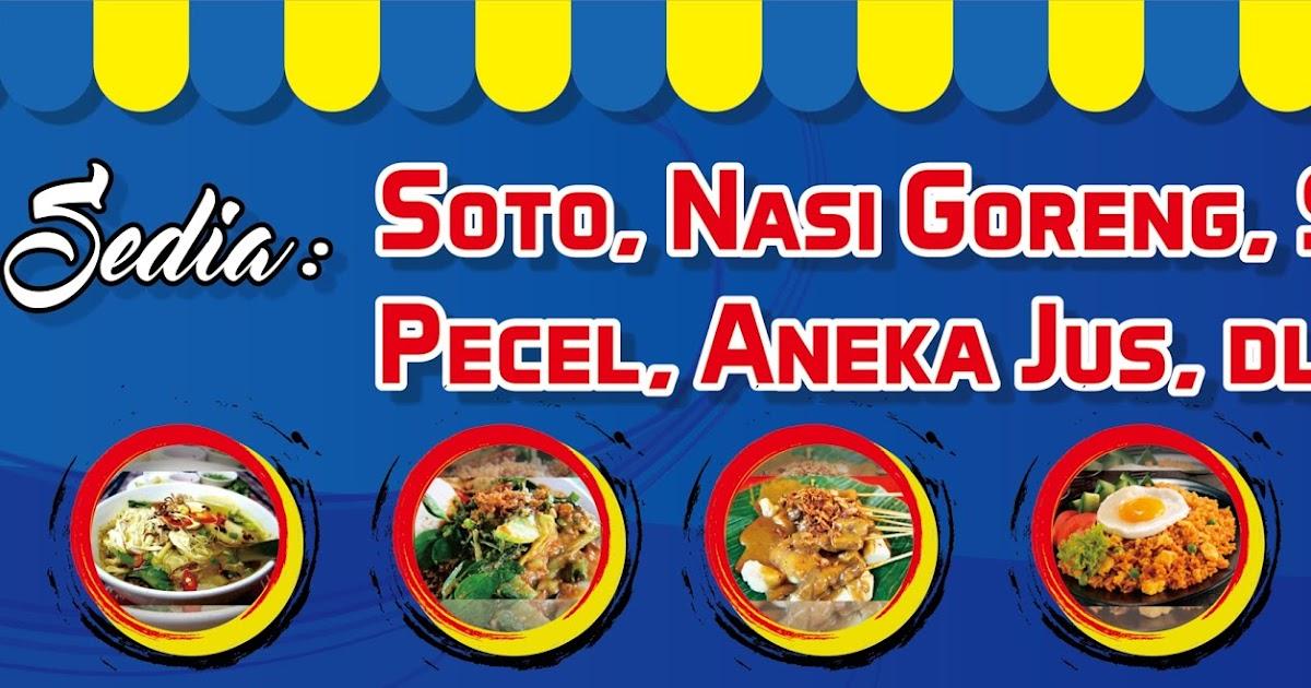 Contoh Spanduk Makanan Cdr - desain spanduk keren