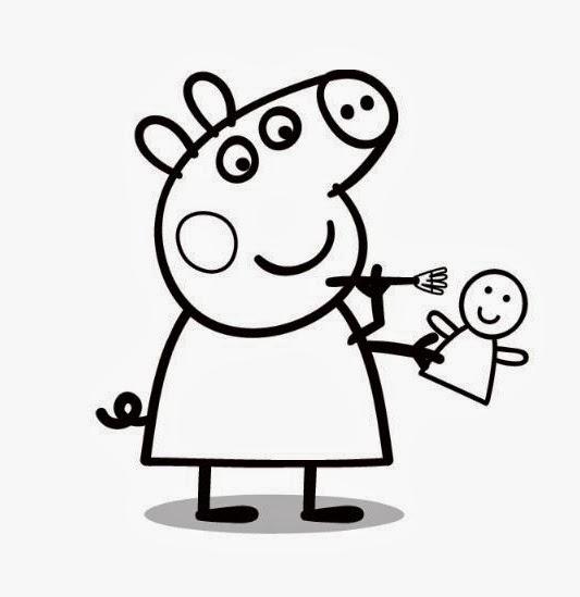 Dibujo De Peppa Pig Para Colorear 42 Lg