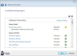 Download Microsoft Malware Prevention, to prevent problems with your