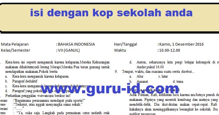 Hot Soal Essay Bahasa Indonesia Kelas 11 Semester 1 ...