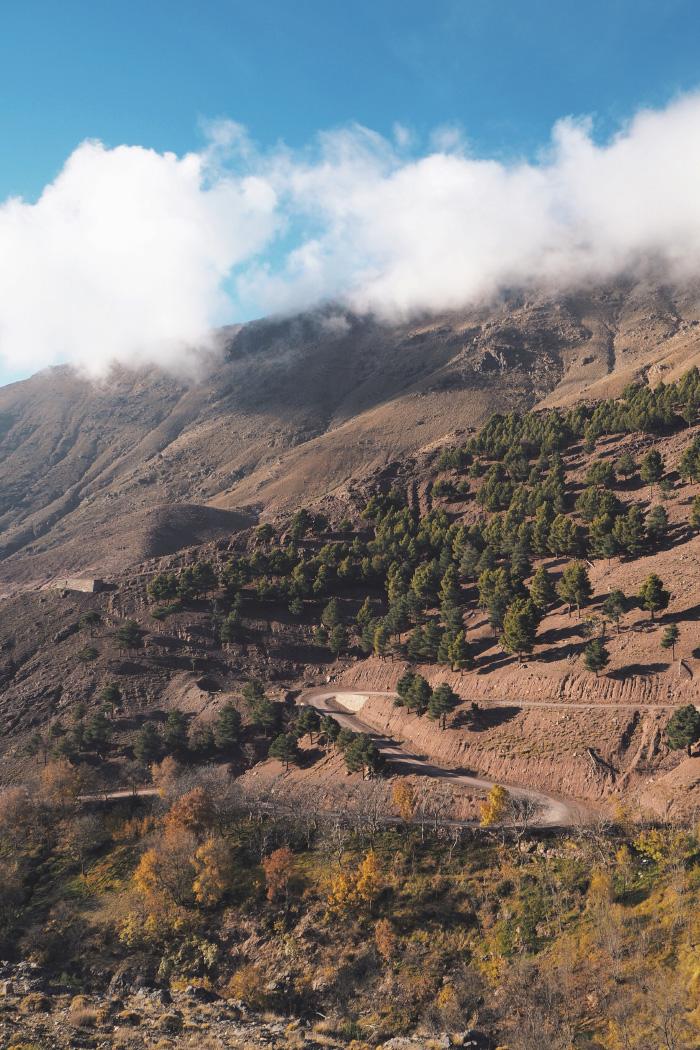 Randonnée dans le Haut Atlas, près de Imlil, au Maroc