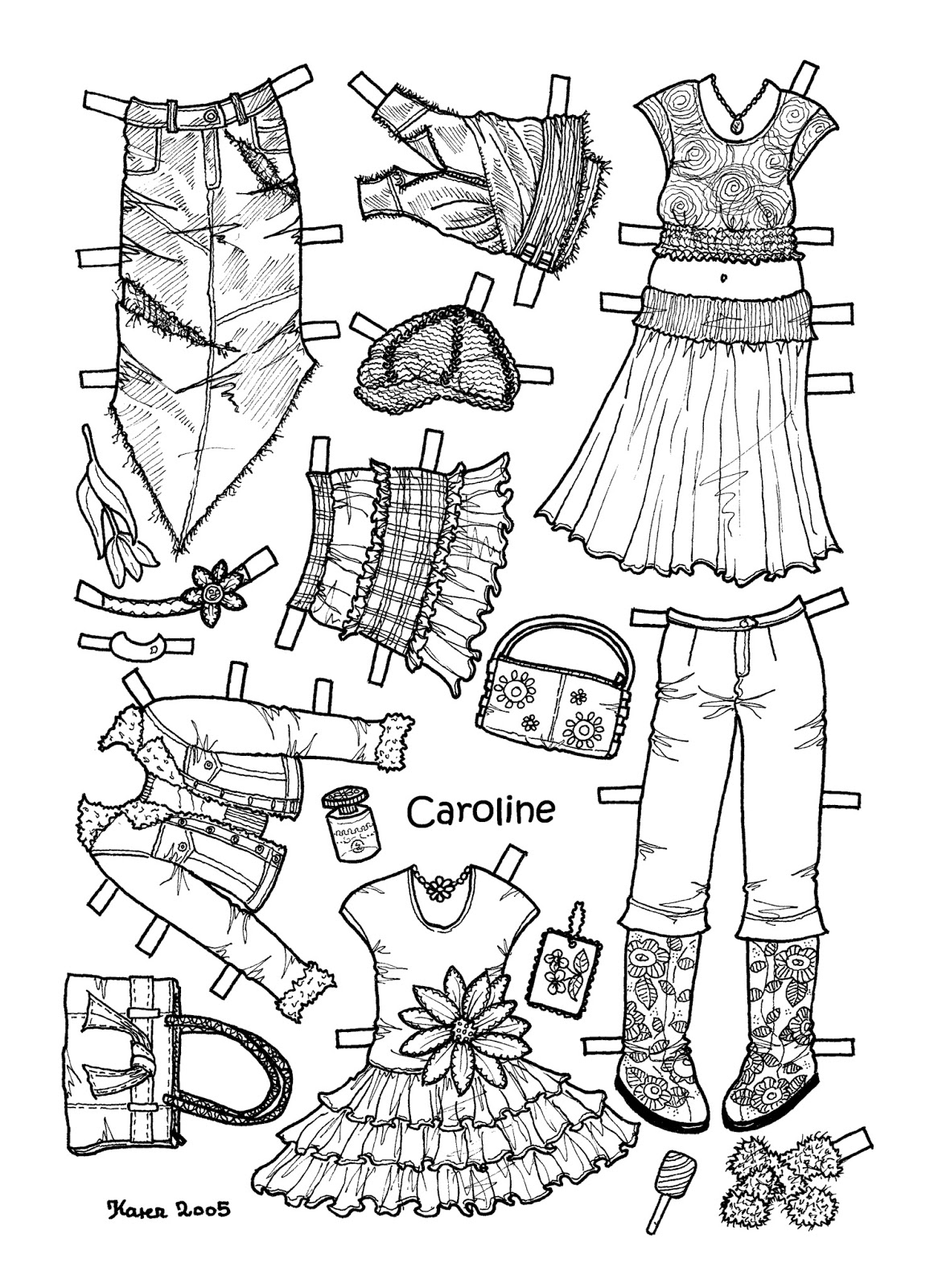 caroline coloring pages - photo#35
