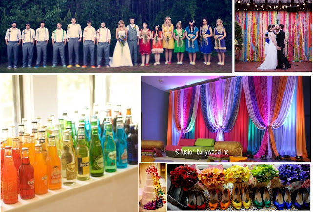 rainbow wedding decorations calgary wedding what your wedding color says about 6953