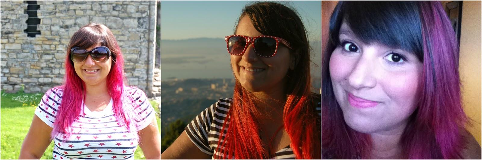 cabelo rosa, cabelo vermelho, cabelo colorido