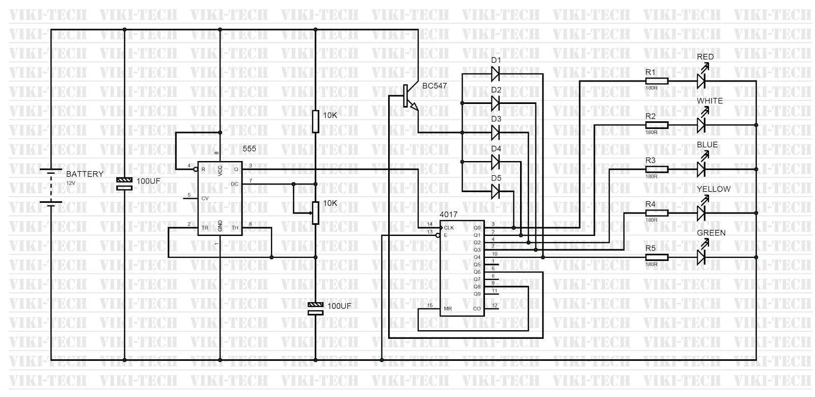 candle lights using ic 4017 ~ electronic circuitscandle lights circuit diagram