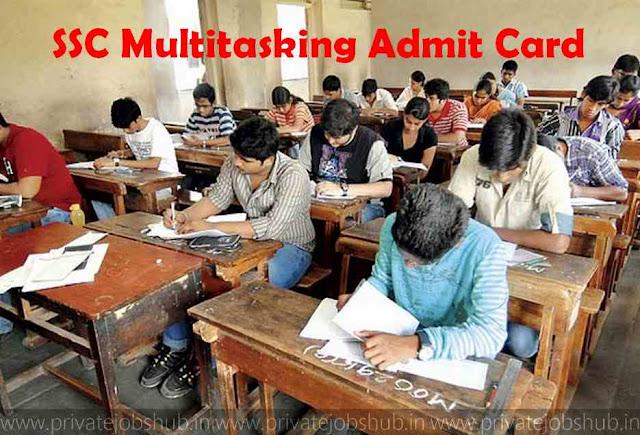 SSC Multitasking Admit Card