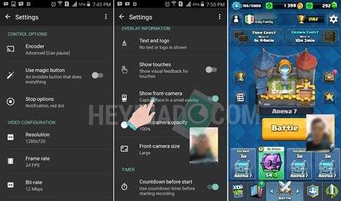 Cara Menampilkan Wajah Saat Merekam Game Android