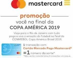 Promoção Mastercard Mercado Pago Assistir Final Copa América 2019 - Você na Final