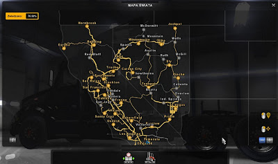 American Truck Simulator Download New Cities in Nevada and California Map MODs
