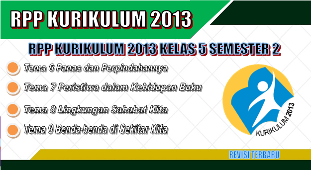 RPP Kurikulum 2013 SD Kelas 5 Semester 2 revisi terbaru tahun 2018