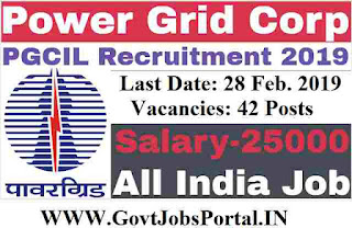 Power Grid Corporation Recruitment 2019