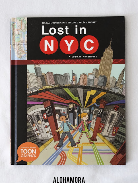 Lost in NYC: A Subway Adventure graphic novel by Nadja Spiegelman and Sergio Garcia Sanchez is a fun fast read for a reluctant reader.  This graphic novel has an a realistic adventure story that includes some really cool information about the NYC Subways and the Empire State Building throughout the story. There is also a really cool nonfiction true information section in the back of the book with real photographs.  3.5 out of 5 stars in my book review. books for boys, books for kids who don't like to read, New York City, Subway system history, traffic engineer Alohamora Open a Book http://alohamoraopenabook.blogspot.com/