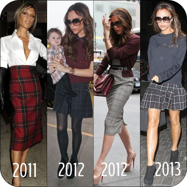 Steal her Style of the Week – Victoria Beckham in Tartan