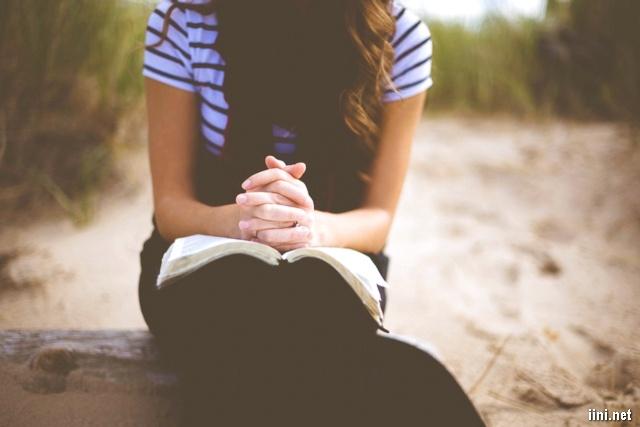 ảnh cô gái ngồi đọc sách trong chiều
