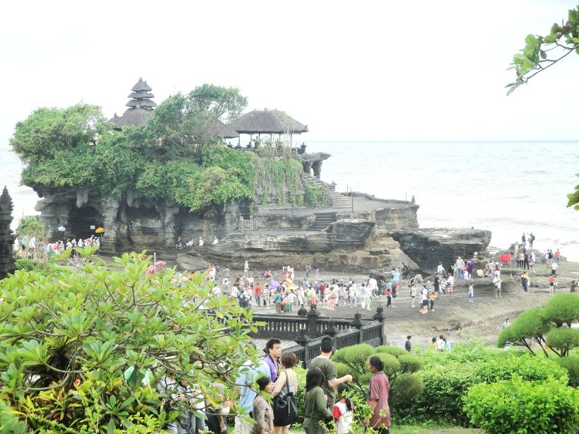 Tanah Lot Hindu Bali Sea Temple with sunset view Tourist Attraction - Bali, Beraban, Village, Sea Temple, Sunset, Hindu, Shrines, Tanah Lot, Kediri, Tabanan, Attractions