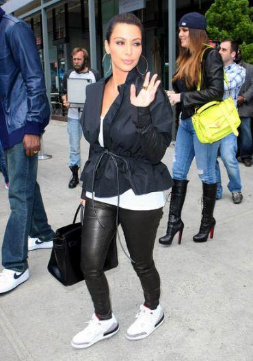 8436072217d2b2 Celeb Sneaker Game  Kim Kardashian Rockin Air Jordan White Cement 3 ...