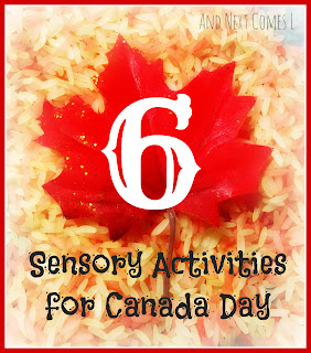 6 sensory activities for kids to celebrate Canada Day from And Next Comes L