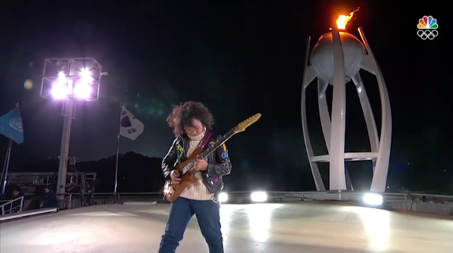 PyeongChang 2018 Winter Olympics Closing Ceremony Yang Tae-Hwan Korean guitarist rocker 13 years old