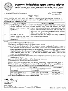 Bangladesh Securities and Exchange Commission Job Circular 2018