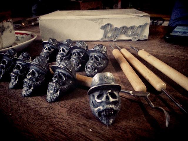 Model cincin Skull Ring (Koboy) yang sedang trend hari ini
