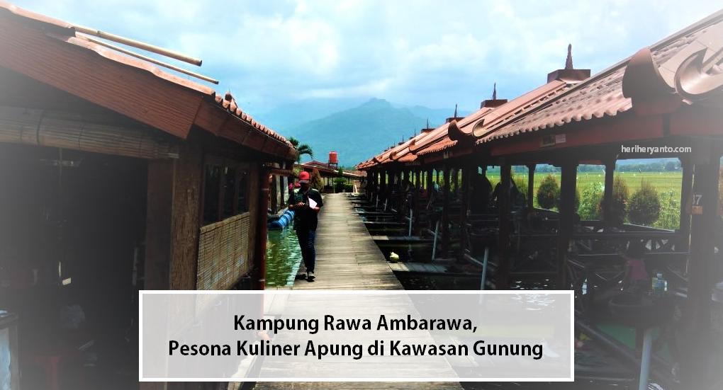 Kampung Rawa Ambarawa Pesona Kuliner Apung Di Kawasan