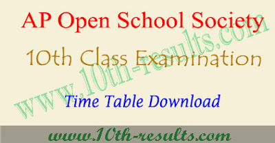 AP open school 10th time table 2018 , aposs ssc exam date 2018