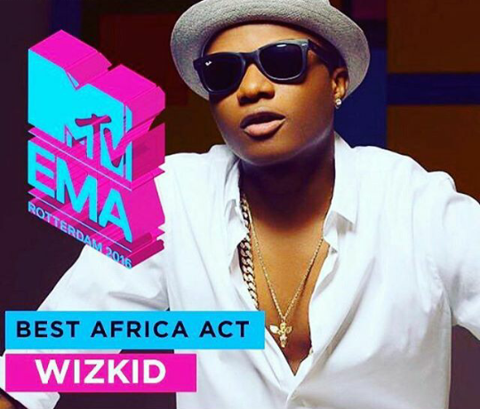 Wizkid wins Best African Act 'MTV EMAs