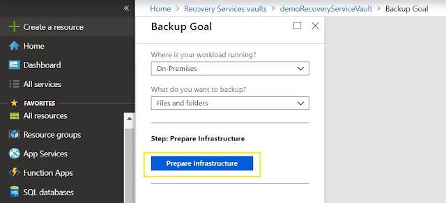 Backup Goal - Prepare Infrastructure