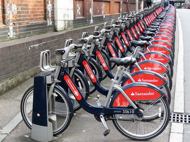 Santander Cycles, Waterloo station, Station Approach, Lambeth, London