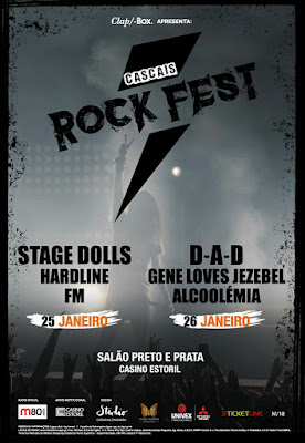FM at Cascais Rock Fest - 25 January 2019 - poster