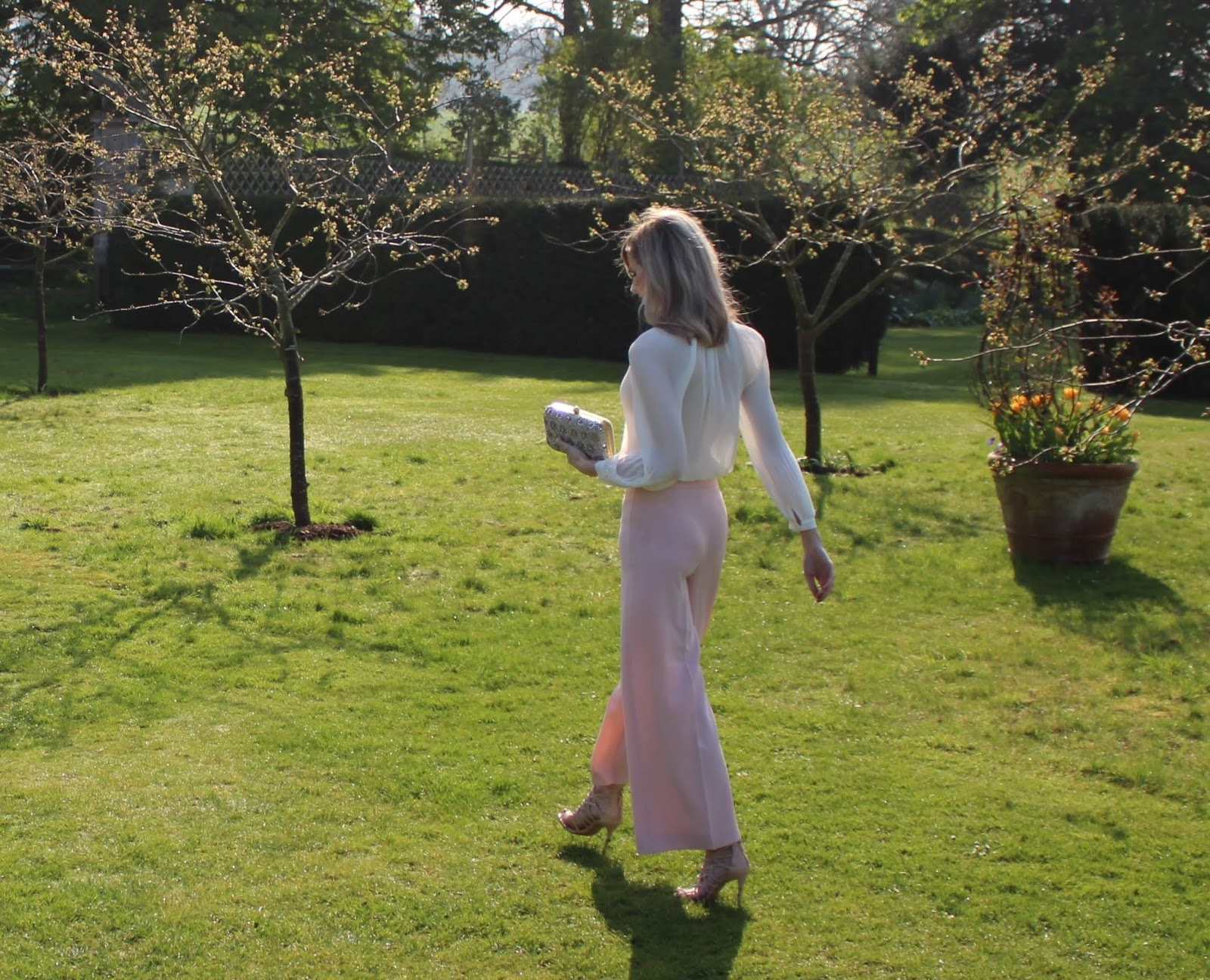 Blush Pink OOTD featuring Zara culottes - 5