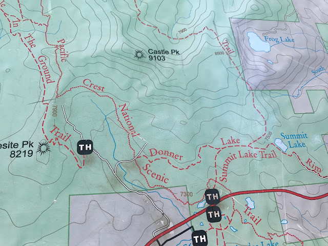 Map at Castle Peak kiosk trailhead