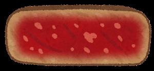 ステーキの焼き方のイラスト(レア)